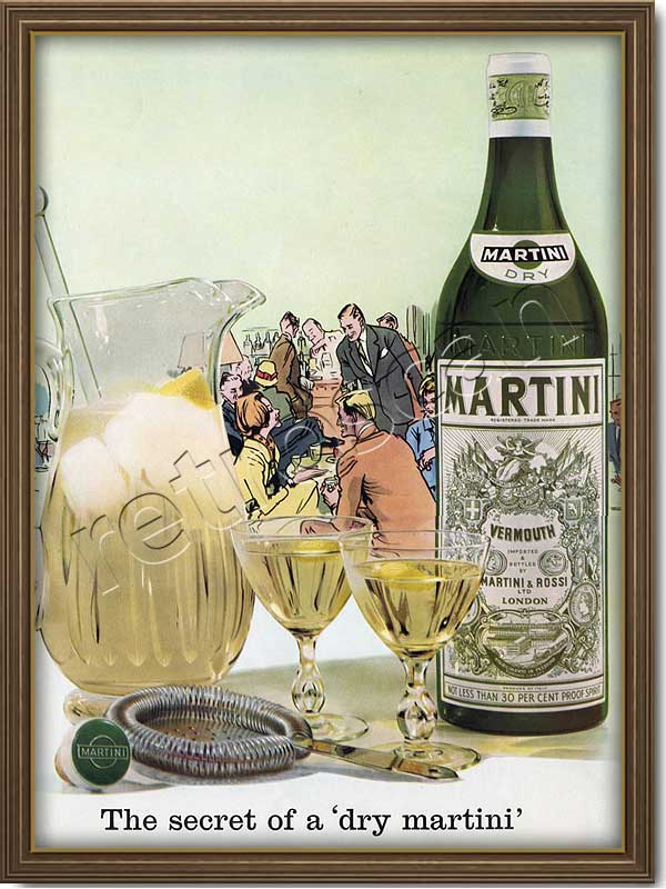 1961 vintage Martini advert