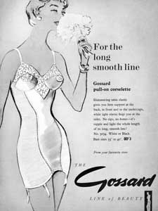 1958 Gossard Pull-On Corselette Vintage Ad