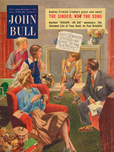 1952 John Bull Front Cover Family in living room