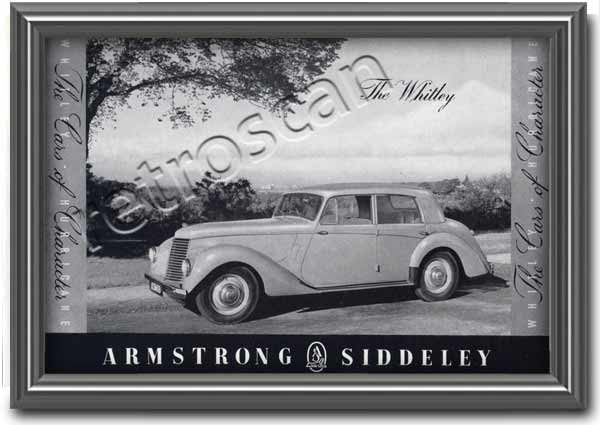 1952 Armstrong Siddely - Whitley Hurricane Vintage car ad