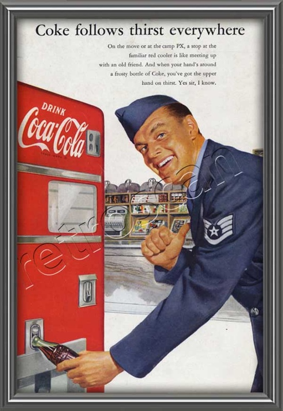 1952 Coca Cola Airforce Pilot  - framed preview