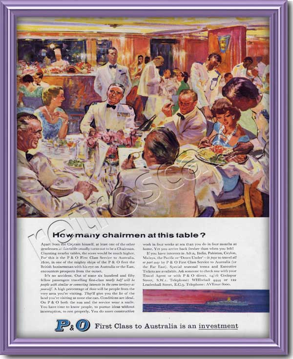1959 P & O Cruise Line advert