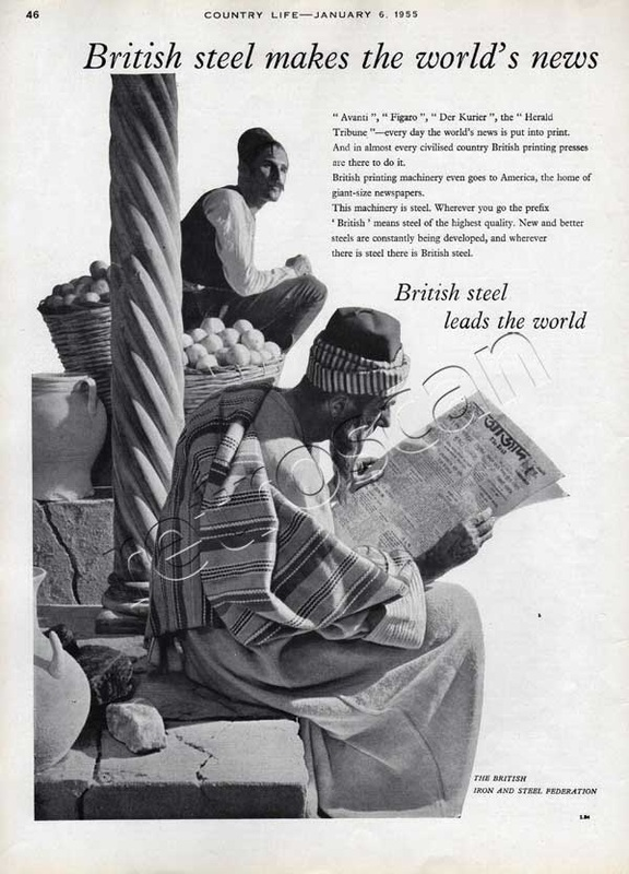 1955 British Steel vintage ad
