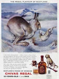 1962 chivas regal scotch whisky hare