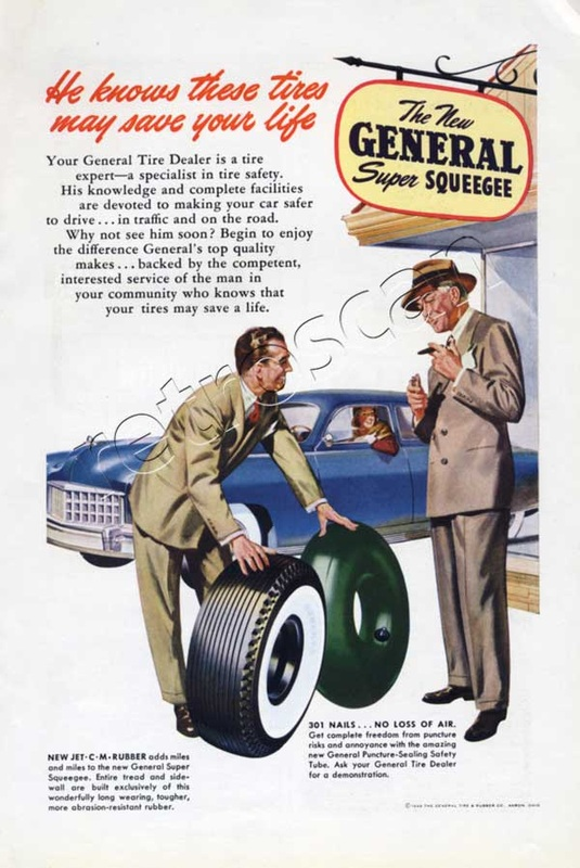 1949 General Tire Company vintage ad