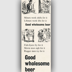 1954 ​Brewers' Society vintage ad