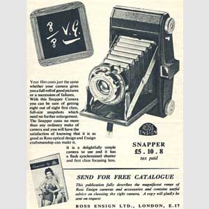 1954 Ross Ensign Snapper Camera