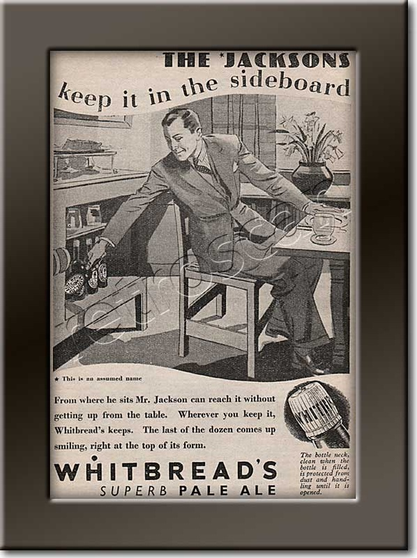 old Whitbread's Pale Ale  advert