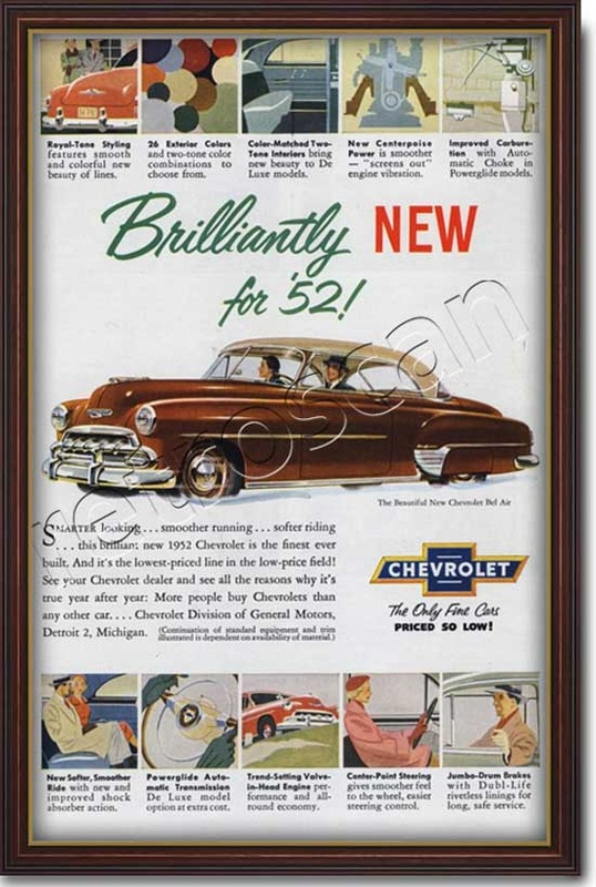 vintage 1952 Chevrolet advert