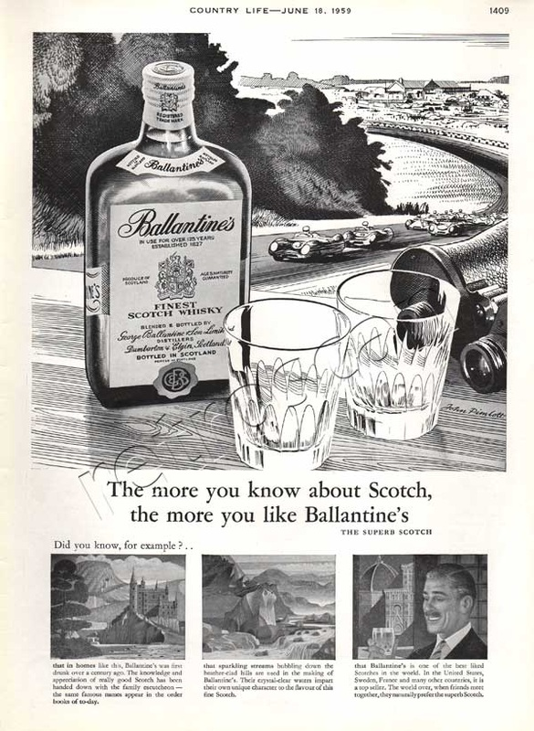 1959 Ballantines Scotch Whisky - unfarmed