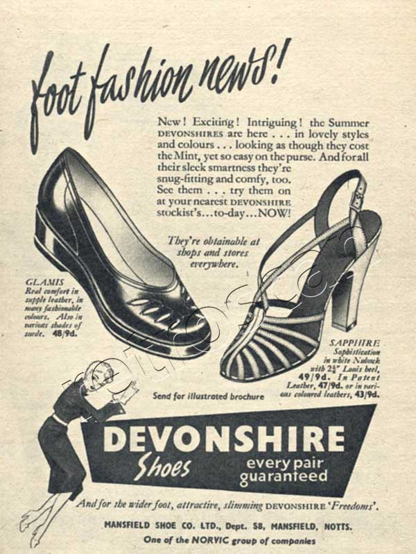 1953 Devonshire Shoes - unframed