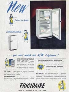 1950 Frigidaire Fridge Freezer - vintage ad
