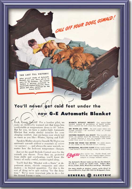 1942 vintage General Electric Automatic Blanket