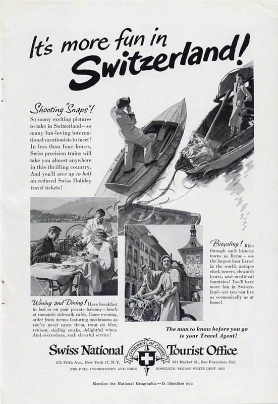 1951 Switzerland Tourism