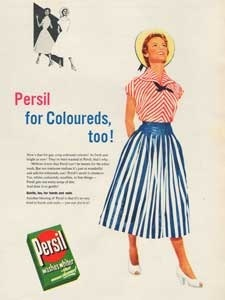 1954  Persil Washing Powder Vintage Ad