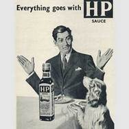 1954 HP Sauce (Dog) - Vintage Ad