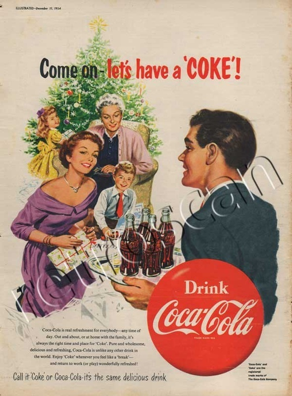 1954 Coca Cola Christmas Tree