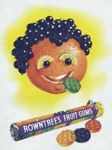 1954 Rowtree's Fruit Gums - Face Vintage Ad