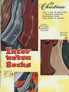 1951 Interwoven Socks - Christmas