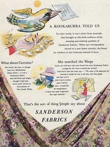 1953 Sanderson Fabrics and Wallpapers