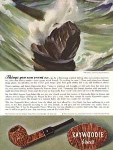 1942 Kaywoodie Pipes Vintage Smoking Ad