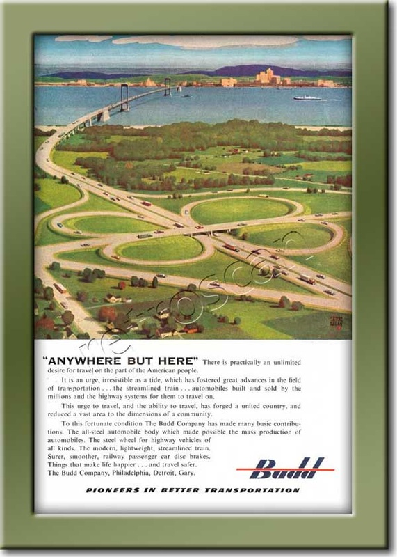 1952 vintage Budd Engineering ad