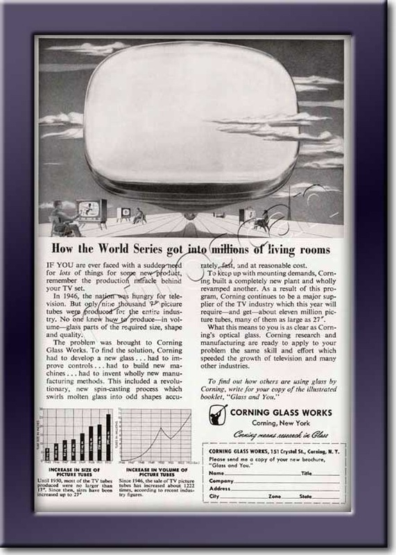 1953 Corning Glass