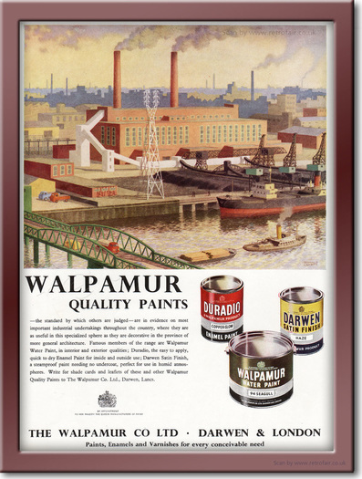 1958 Walpamur Paint - framed preview retro