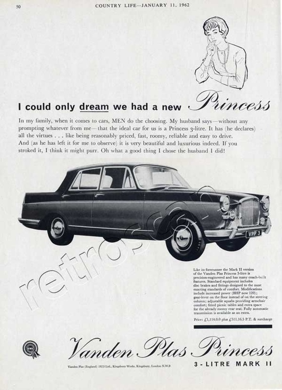 1962 Vanden Plas Princess - unframed