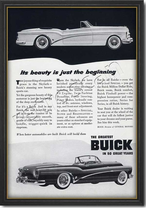 1953 Buick Skylark - framed preview
