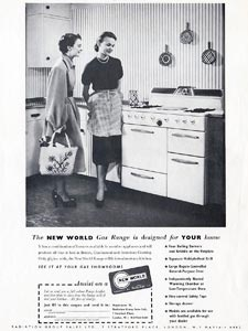 retro New World cooker ad