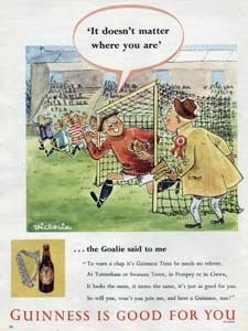 1954 Guinness Is Good For You Vintage Ad Footballer