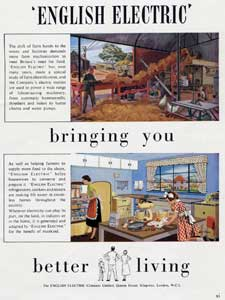 vintage English Electric advert