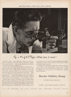 1953 Hawker Siddeley - unframed vintage ad