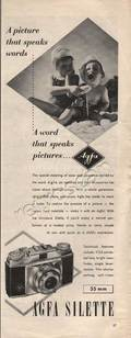 1954 Agfa Silette 35mm Camera vintage ad
