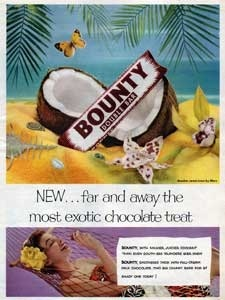 1954 Bounty Bar and butterfly - vintage ad