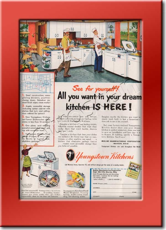 1952 vintage Youngstown Kitchens ad