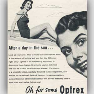 retro Optrex advert