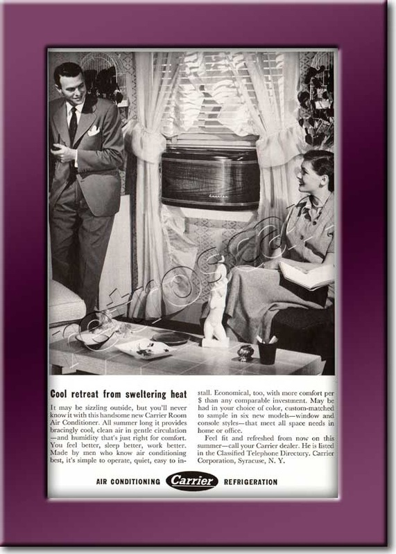 vintage 1950 Carrier Air Conditioning ad