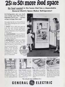 1950 General Electric Refrigerators  - vintage ad