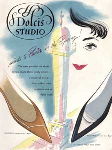 1958 Dolcis Studio Shoes - vintage ad