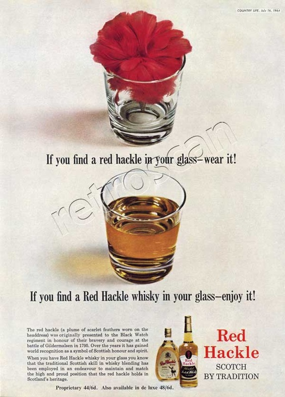 1964 Red Hackle Scotch Whiskey - unfarmed