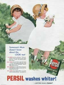 1955 Persil Washing Powder Girls