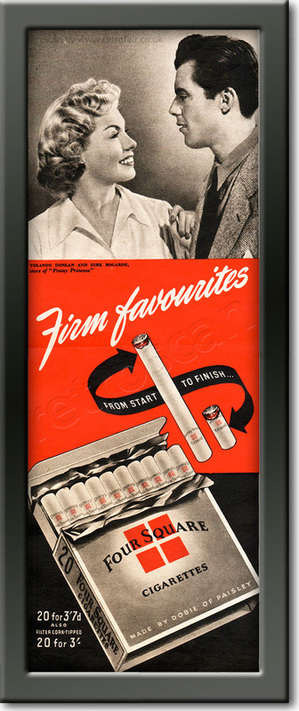 1952 Four Square Cigarettes - framed preview