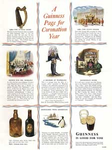 1953 Guinness Coronation Commemoration vintage ad