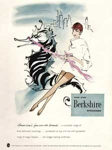 1958 Berkshire Stockings - vintage ad