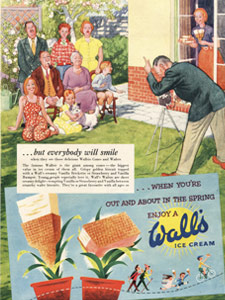 1954 Wall's Ice Cream - Family Portrait - framed preview