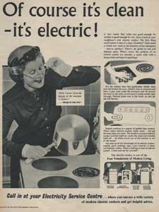 1955 Electricity Service Centres - vintage ad