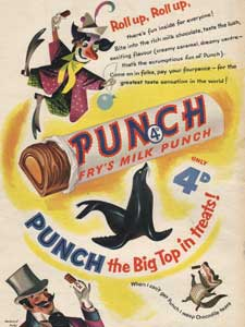 1954 Fry's Milk Punch Bar Circus
