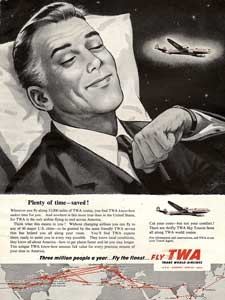 1954 Trans world airlines Vintage Ad